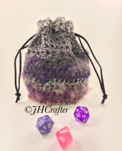 Pink Purple and Gray Bag