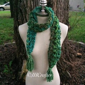 Green Fuzzy Soft Scarf