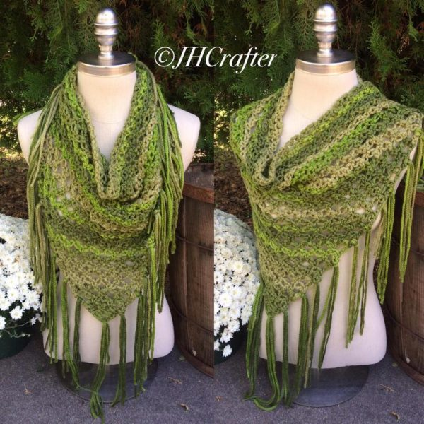 Green Triangle Shawl or Scarf
