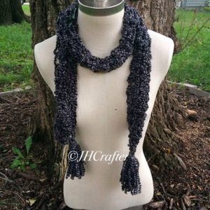 Black Fuzzy Soft Scarf
