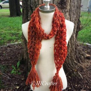 Orange Fuzzy Soft Scarf