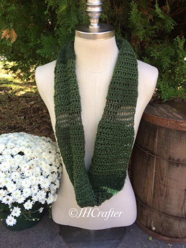 Green Infinity Scarf