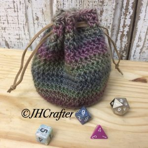 Echo Crochet Bag, Dice bag