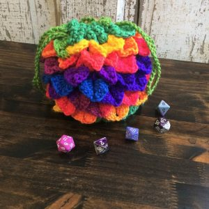 Rainbow Dragon Egg dice bag