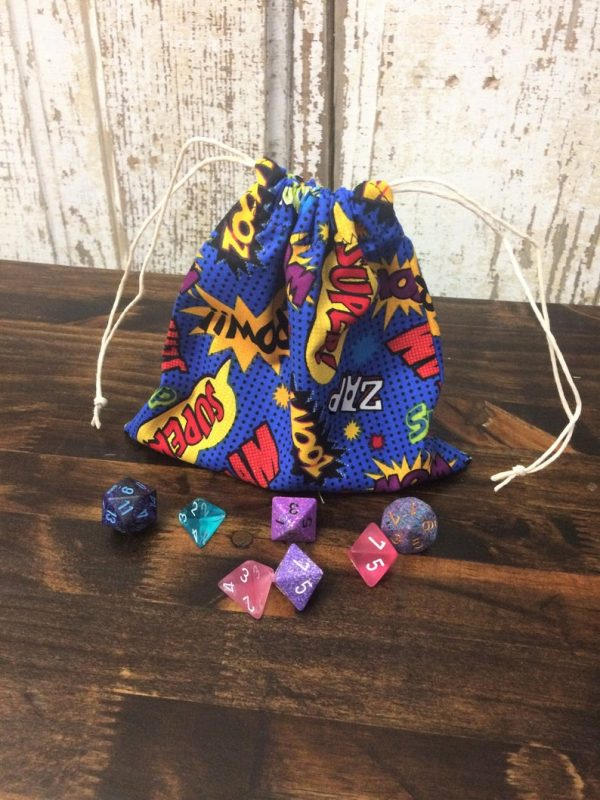 Comic book dice bag