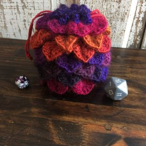 Volcano Dragon Egg Dice Bag