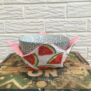 Watermelon and Flamingo Soup Bowl Warmer