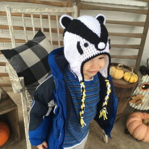Hufflepuff badger hat