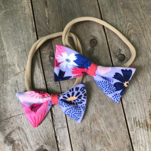 Big Flowers Skinny Bow
