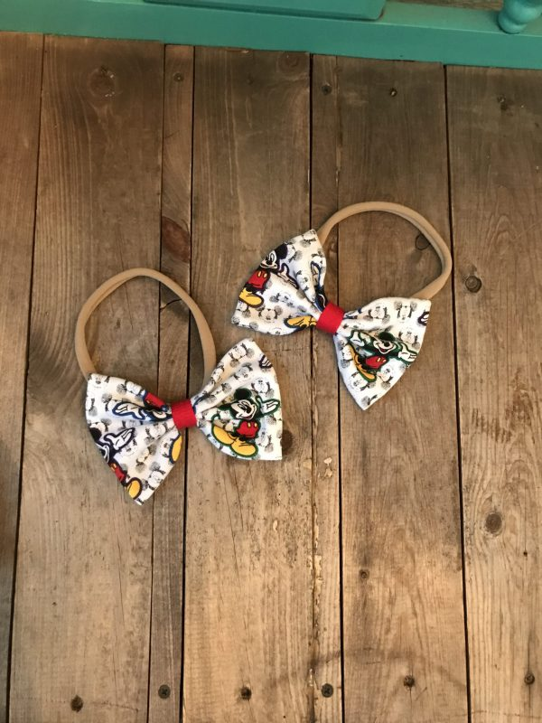 Mickey Mouse Baby Bows