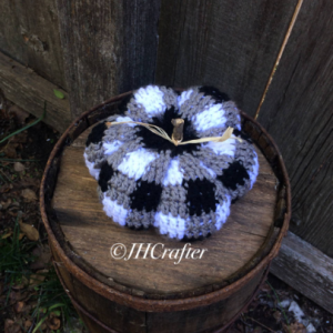 Black and White Plaid Pumpkin