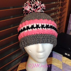 Textured winter hat pattern