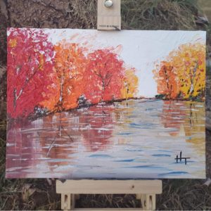 Autumn Pond Painting